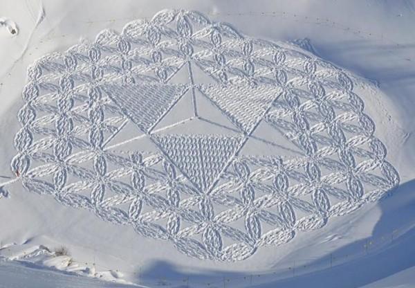 他走過的路會留下美麗的雪花痕跡!17-600x416
