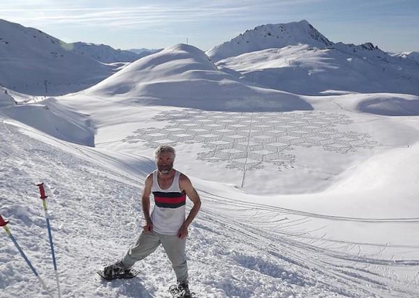 他走過的路會留下美麗的雪花痕跡!15-600x428