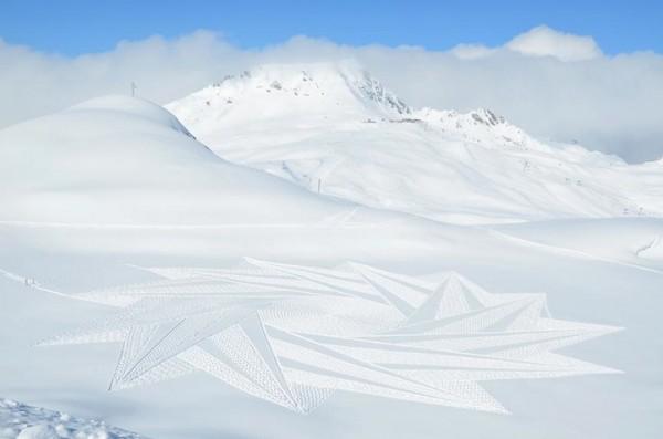 他走過的路會留下美麗的雪花痕跡!9-600x397