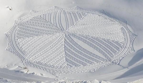 他走過的路會留下美麗的雪花痕跡!15-600x350