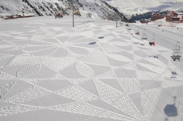 他走過的路會留下美麗的雪花痕跡!11-600x397