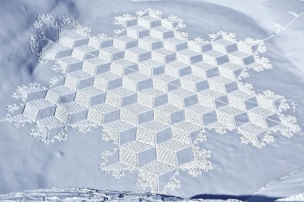 他走過的路會留下美麗的雪花痕跡!16-600x399